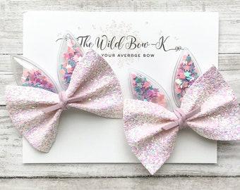 2.5  white and black dot pigtail bow set faux leather bow kids bowskids headbandsnylon  toddler bow birthday kid bow headbanddis