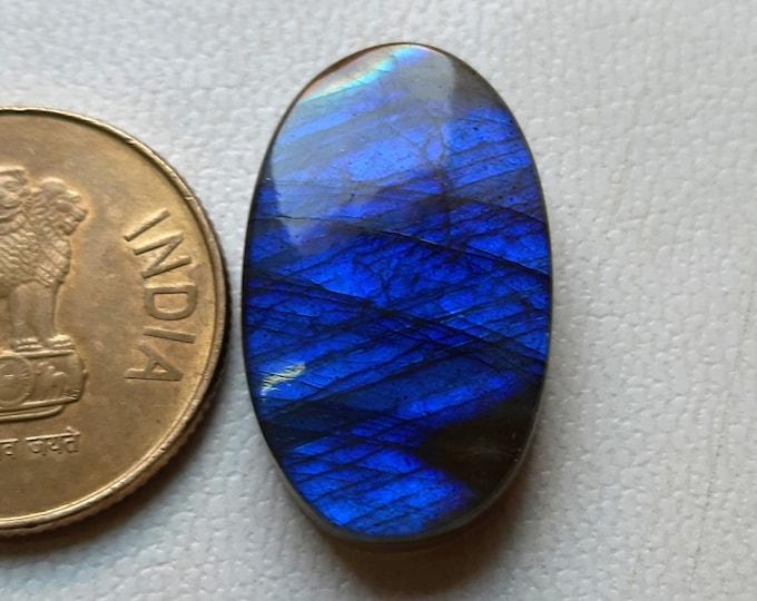 Wire Warped Jewelry Labradorite AAA Natural Labradorite Gemstone Hand polish Stone Oval Labradorite 26x16MM,Blue Fire Labradorite Cabochon