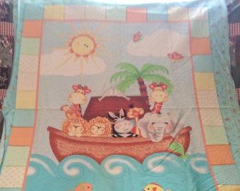 Bazooples Noah's ark baby panel
