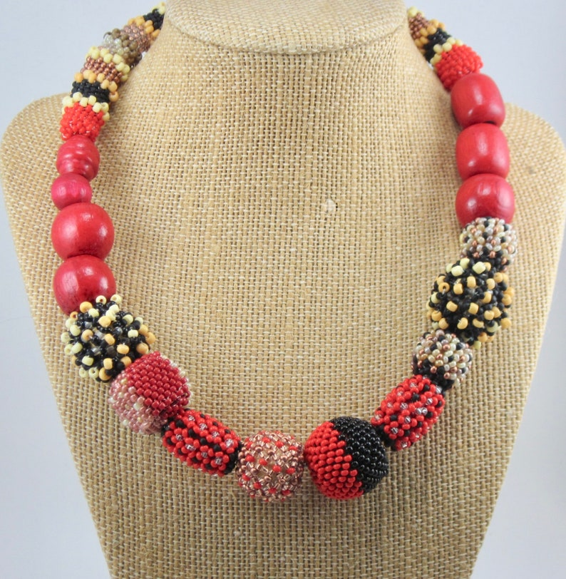 Ethnic Statement One Of A Kind Statement Choker Asymmetrical 15 Choker Multicolor Necklace Gift For Her Tribal Multicolor Necklace