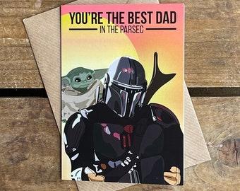 Mandalorian - Baby Yoda -  Father's Day A6 Blank Card