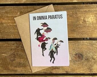 Gilmore Girls - In Omnia Paratus -  A6 Blank Card