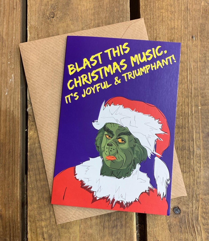 Grinch A6 Christmas Card image 0
