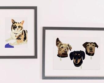 Pet portrait - Digitally hand-drawn