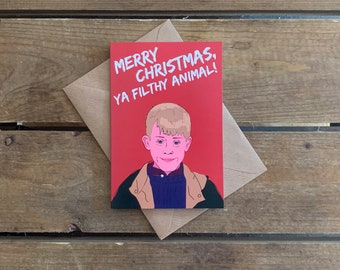 Home Alone A6 Christmas Card
