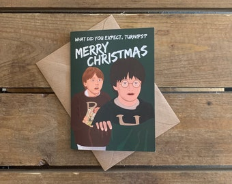 Harry Potter and Ron Weasley-Harry Potter Christmas A6 Blank Card