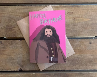 Hagrid-Harry Potter A6 Blank Card