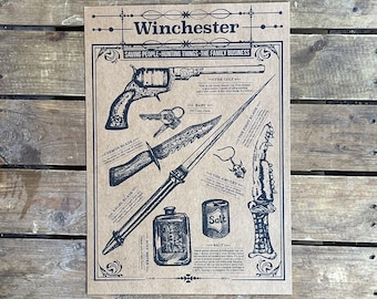 Weapons of Supernatural - A3 Print