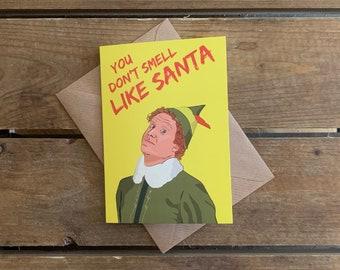 Elf A6 Christmas Card