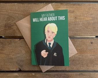 Draco Malfoy-Harry Potter A6 Blank Card