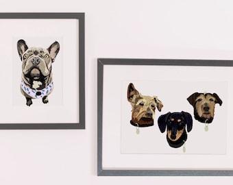 Dog Pet portrait - Digitally hand-drawn