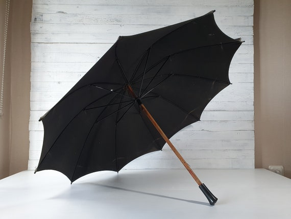 Antique Umbrella, Vintage Rain Umbrella, Working P