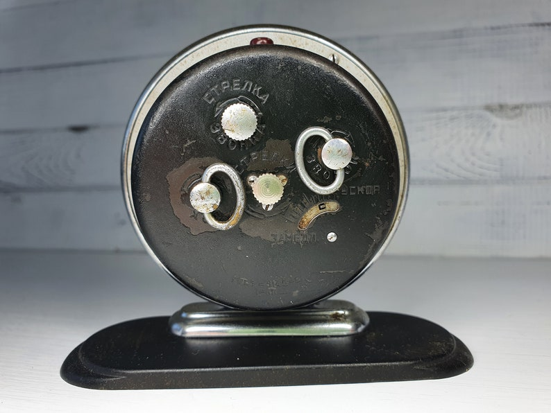 Mechanical Table Clock Soviet alarm clock DRUZHBA Slava mechanical USSR Vintage Rare model Elephant Soviet Mechanical Alarm Clock