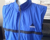 Women 39 s Vintage 90s ADIDAS Vest, Sports Windbreaker M, Full Zip, Sleeveless Jacket