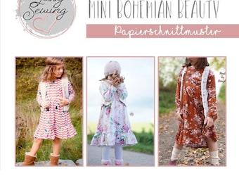 "Paper Cut Pattern Children's Dress ""Mini Bohemian Beauty"" by Jessy Sewing"