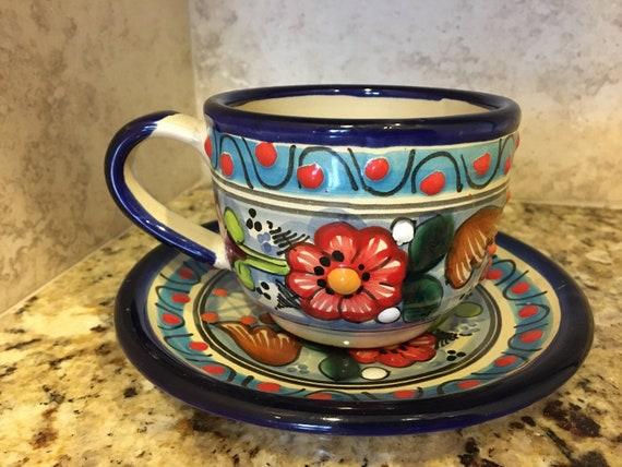 Handmade Pottery Mexican Talavera Napkin holder Ceramic