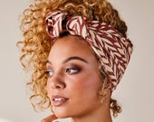 House of Harlow 1960 Collab, Head Scarf, Wrap, Yellow Floral or Red Coral Leaf Print 100% Cotton