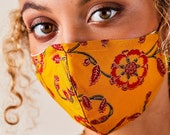 House of Harlow 1960 Collab, 3 set Cotton Face Masks, Organic Cotton Twill Lining, Set of 3 different Indian Prints