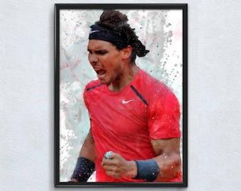 Poster Rafael Nadal Grand Slam Tennis stars Art Wall Cloth Print 501
