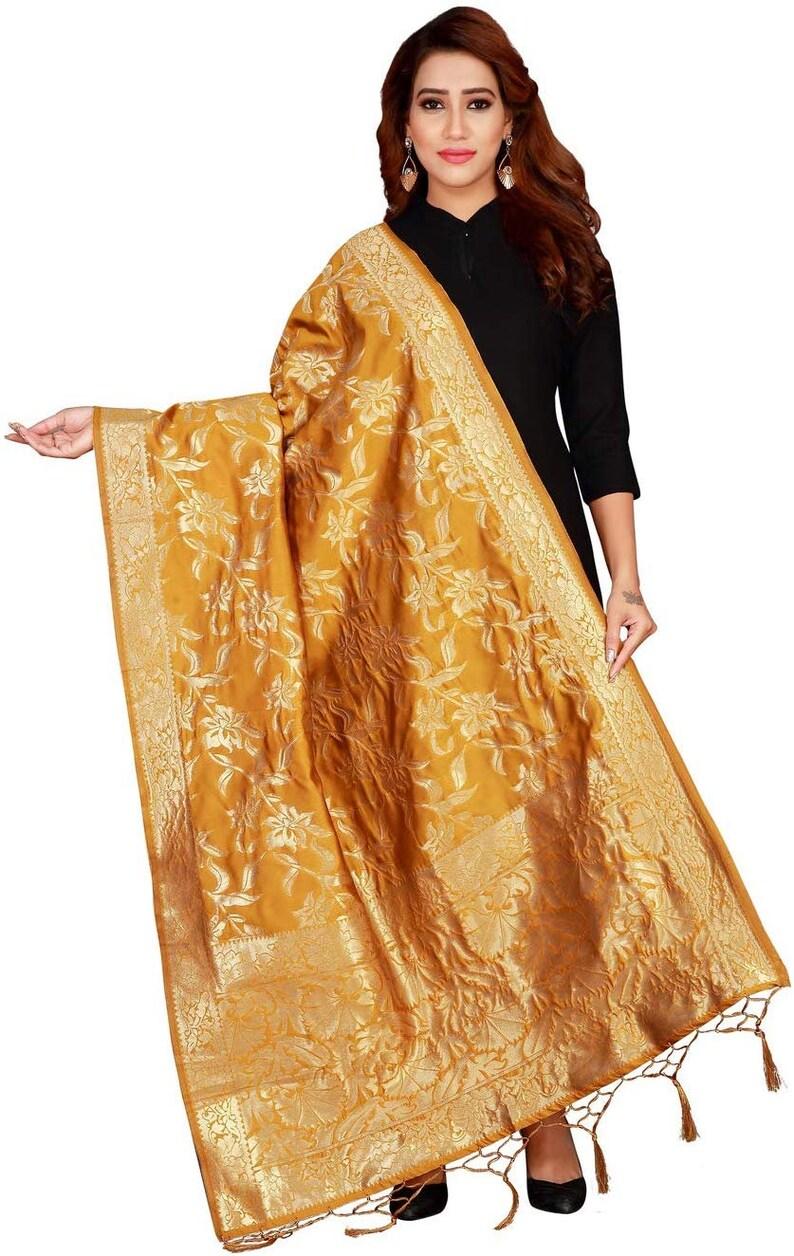 Women/'s Poly Silk duppata multicolor