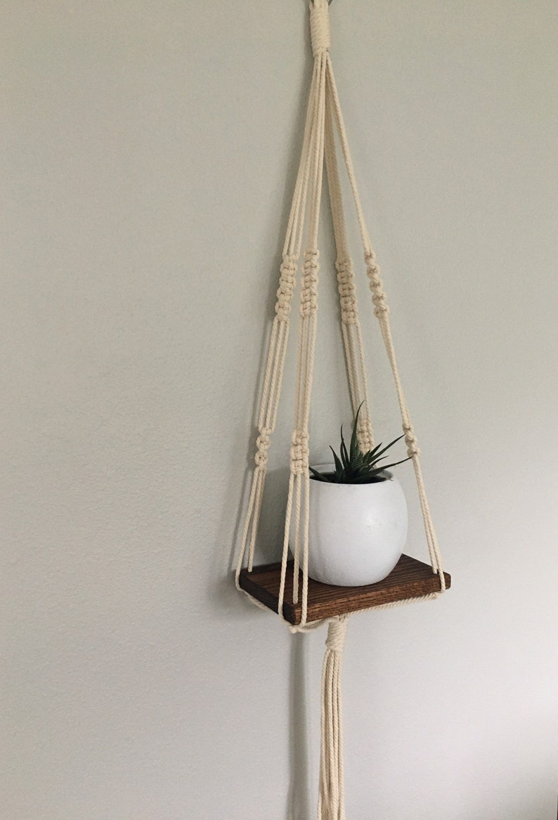 Macrame Wall Shelf image 3