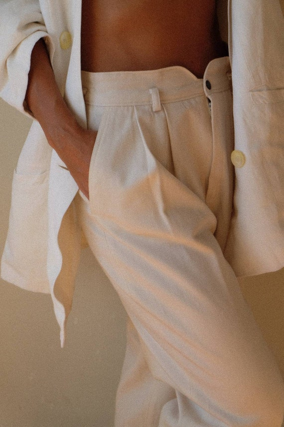 1980s vintage high waisted wool trousers, Wool win