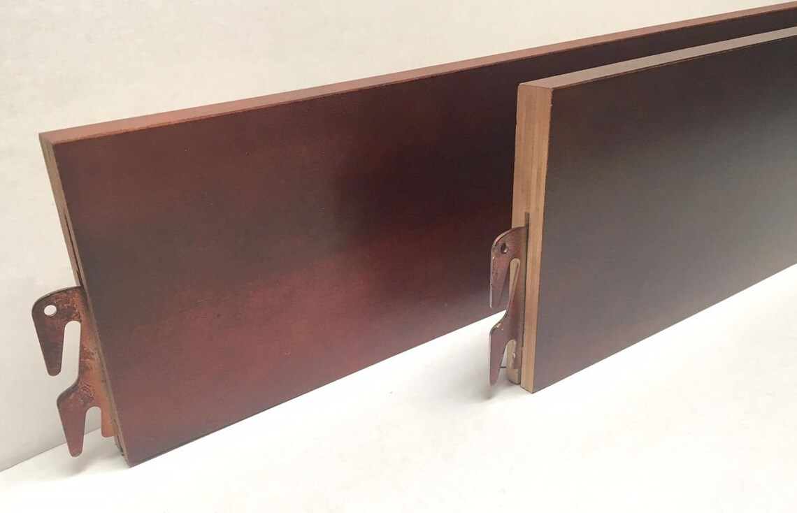 """BH101-Cherry 76"""" Twin/Full Bed Rails"""