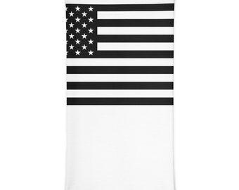 Black American Flag Neck Gaiter