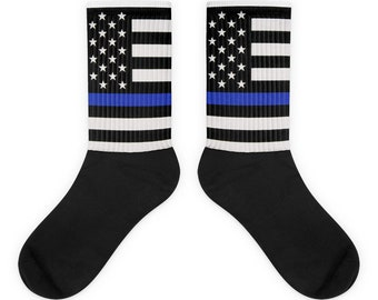 Thin Blue Line pro Police Socks