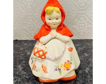 "Cookie Jar Classics ""Little Red Riding Hood"" By Jonal Ceramic Cookie Jar"
