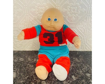 Cabbage Patch Coleco 1978 1982 New Born Baby Boy Bald Xavier Roberts 1985 Original Outfit