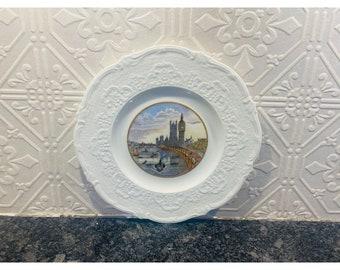 Coalport of England Porcelain Thames Embankment Pattern Plate Circa 1920-30's