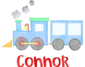 Train Christmas press transfer ready to press heat transfer, cotton tshirt transfer