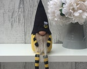 Bee Gnome With Arms and Legs, Home Decoration, Nordic Hygge Home, New Home Gift, Bee gnome, Gonk