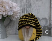 Slouchy Hat Bee Gnome, Home Decoration, Nordic Hygge Home, New Home Gift, Bee gnome, Gonk