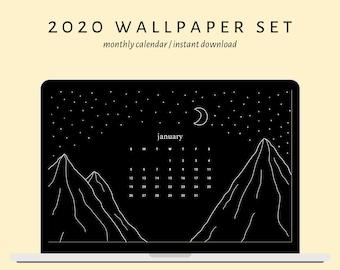 Wallpaper Calendar Etsy