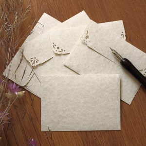 Save the Date Magnet Gift Card Envelopes Small Handmmade Envelopes for Wedding Thank You Cards 25 C7 Parchment Natural Envelopes