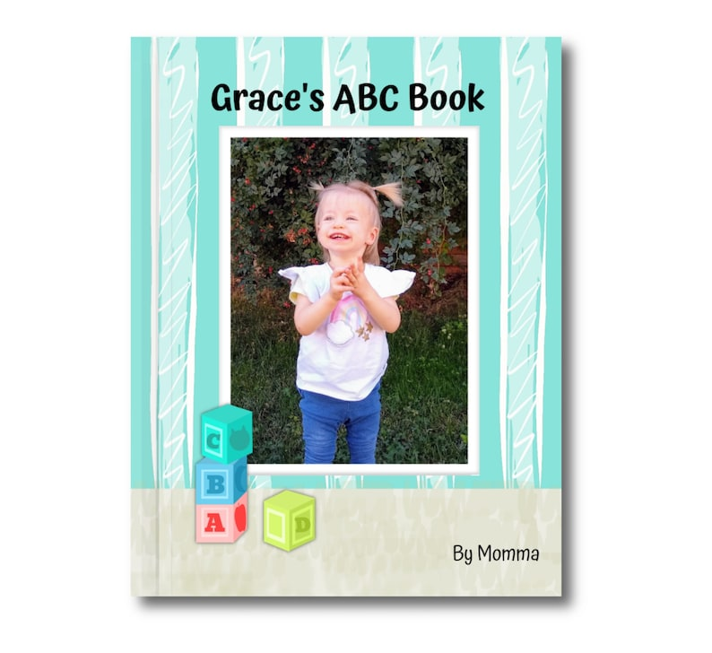 Personalized Hardcover ABC Book With Up to 8 Custom Names and image 0