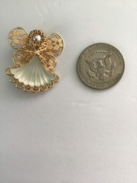 Rhinestone Angel Pin Crystal Celestial Angel Pin Retro Angel Pin Vintage Retro Angel Brooch Vintage Angel Brooch Vintage Angel