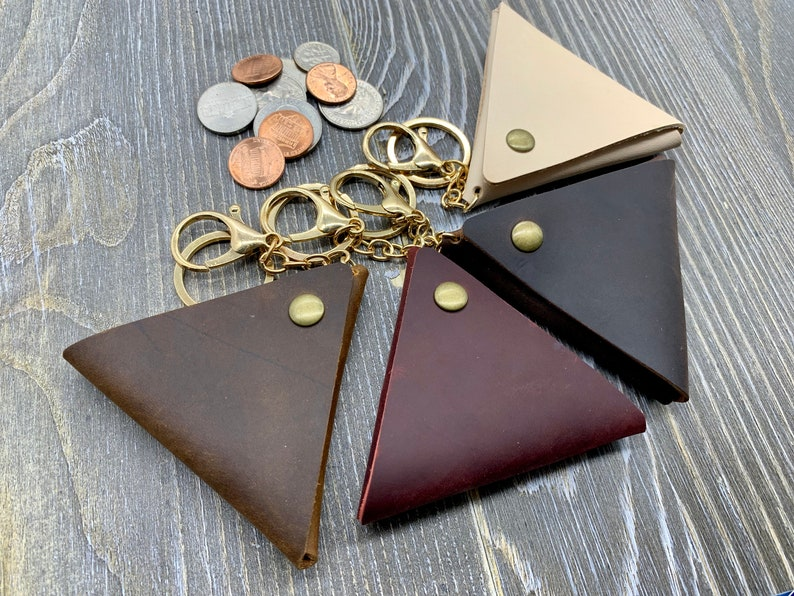 Leather Coin Purse Coin Holder Key Chain Christmas Gift for Her Etsy Leather Coin Purse Key Chain Monogrammed Leather Coin Pouch Keyring