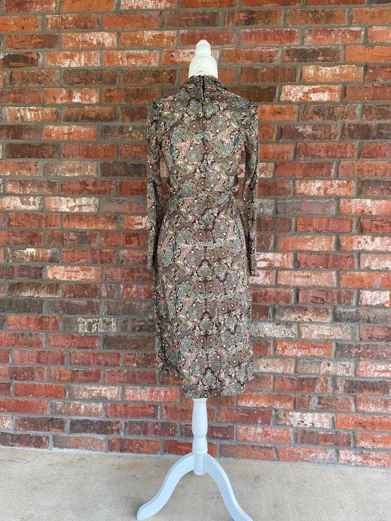Joy Stevens Vintage 70s Tapestry Goddess Maxi Dress Size S M