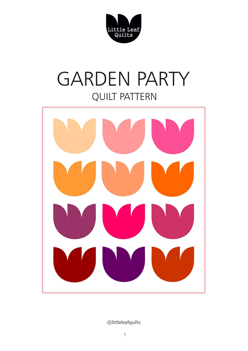 Garden Party Quilt Pattern image 0