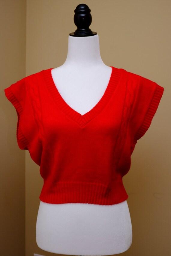 1970s Poppy Red Vest