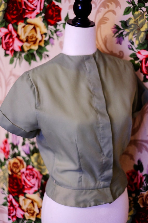 Mint Green 1950s Blouse