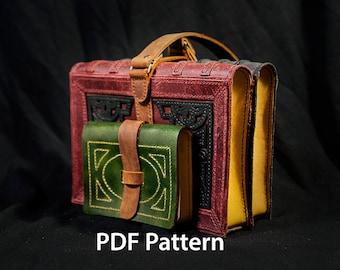 PDF Pattern Leather Book Purse
