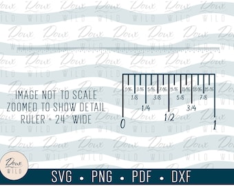 24 inch Ruler for Crafters svg, office boss school tools printable sign print vinyl design cut files DIGITAL DOWNLOAD ONLY vector png dxf