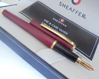 SHEAFFER SAILOR fountain pen in steel lacque in black color Original in gift box