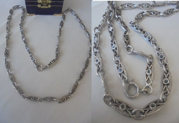 Heavy NECKLACE in SILVER STERLING 925 Liberty styl