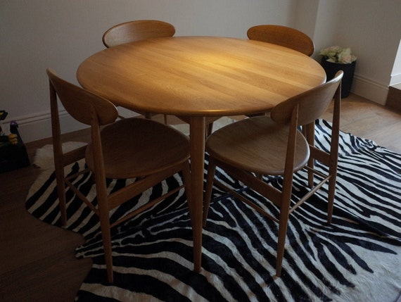 Danish Dining Table And Chairs Etsy