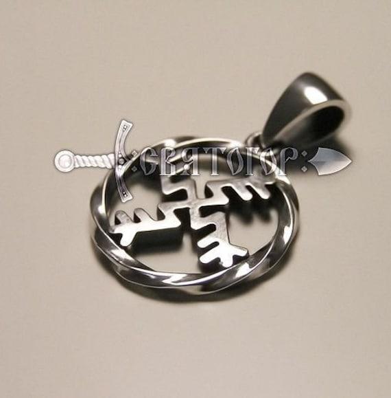 Money Swastika Slavic Pagan Symbol Silver pendant
